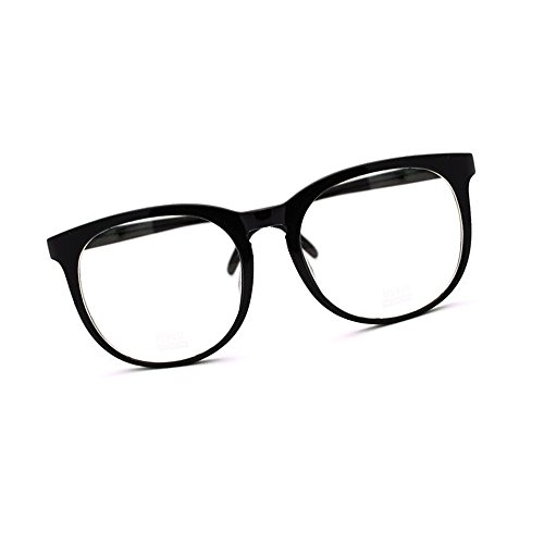 Large Nerdy Thin Plastic Frame Clear Lens Eye Glasses Frame