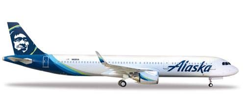 Herpa Wings 531894 Alaska Airlines Airbus A321neo 1/500 Scale Diecast Model