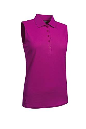 (Glenmuir Ladies' LSP2557 Performance Pique Sleeveless Polo Shirt Fuchsia XL)