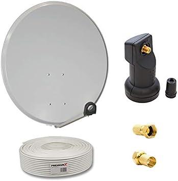 PremiumX Digital Camping 45cm SAT Anlage Spiegel Antenne Schüssel Single LNB 4K