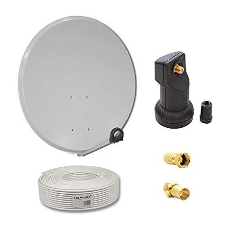PremiumX camping satélite, antena de 45 cm (Espejo, FullHD + ...