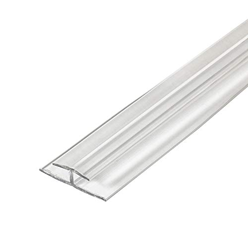 Outwater Plastic H Channel Fits Material 1/8 Inch Thick Clear Butyrate Divider Moulding 72 Inch Length Pro Pack (Pack of 10, 60 Feet Total)