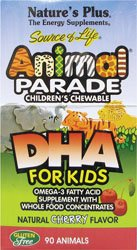 Animal Parade DHA Natural Cherry Nature's Plus 90 Chewable - Animal Parade Dha Cherry