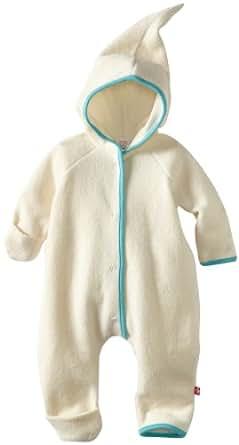 Zutano Unisex-Baby Newborn Cozie Elf Romper, Cream, 3 Months