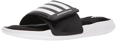adidas Men's Superstar Slide Running Shoe, White/Black, 16 M US