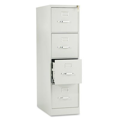 Light Gray Vertical 4 Drawer (510 Series Four-Drawer, Full-Suspension File, Letter, 52h x25d, Light Gray, Sold as 1 Each)
