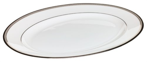 (Lenox Murray Hill Platinum-Banded Bone China 13-Inch Platter)