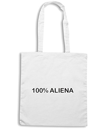 T-Shirtshock - Bolsa para la compra TDM00003 100x100 aliena Blanco
