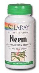 Solaray Neem, 475 mg, 100 Count