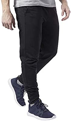 Reebok Te Ft Jogger-Linear Logo Pantalón, Hombre, Negro, XL ...