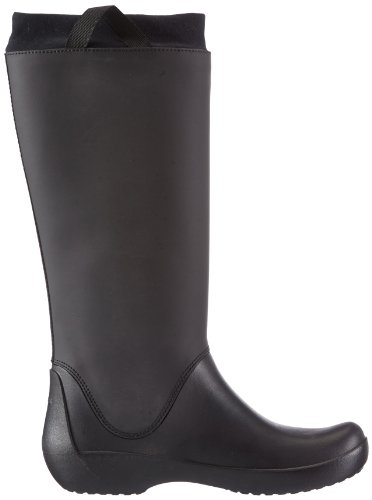 Gomma W black Donna Nero Di Stivali Rainfloe Boot Crocs black B86RXnZ