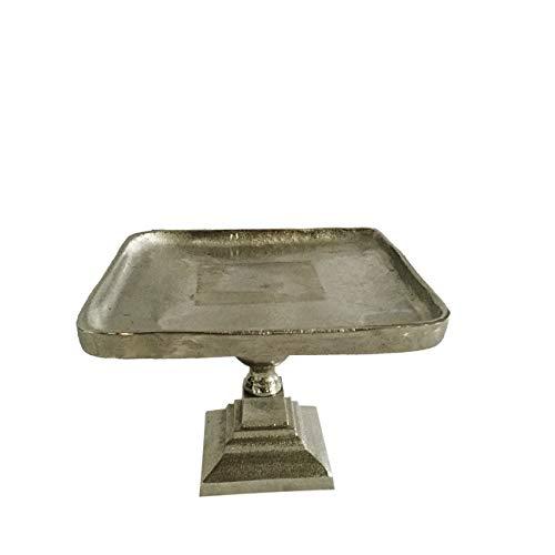 (A&B Home Vivi Square Pedestal, Small Classic Vintage/Silver)
