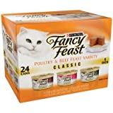 Fancy Feast Poultry and Beef Classic Variety Pack Adult Canned Cat Food, My Pet Supplies