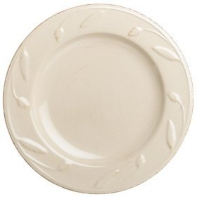 Signature Housewares Sorrento Collection 8-Inch Round Salad Plate, Ivory Antiqued (Antiqued Green Italian Ceramic)