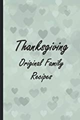 This original cookbook is a perfect idea to create your own recipes and pass it down through generations.       If you are looking for a gift for someone who will celebrate thanksgiving and loves cooking, this lined notebook and recipe...