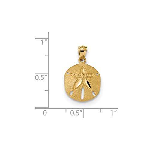ICE CARATS 14k Yellow Gold Sand Dollar Sea Star Starfish Pendant Charm Necklace Shore Shell Fine Jewelry Gift Set For Women Heart by ICE CARATS (Image #3)