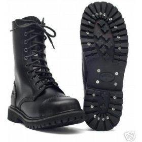 10 Trous springerstiefel ranger bottes noir avec renfort en acier 46