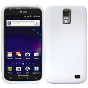 for Samsung Galaxy S II Skyrocket S2 i727 Accessory - White Hard Case Protector Cover + Free Lf Stylus Pen