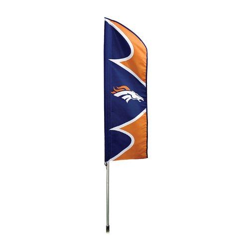 Party Animal Denver Broncos NFL Swooper Flag and Pole