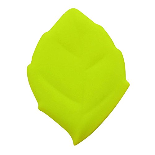 Baiyu Portable Maple Leaf Shape Cup Silicone Camping Drinking Wash Gargle Travel Pocket Cup Folding Bathroom Tumblers Toothbrush Holder / Cover / Cap for Outdoor Activities Hiking Home (Green)