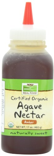 NOW Foods Organic Amber Agave Nectar, 17-Ounce (Pack of 4)