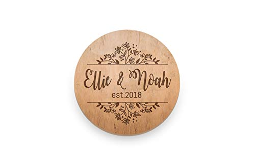 Wedding Favor Coasters (Custom Coaster Set Personalized Coasters Wooden Last Name Wedding gift for Couple Shower Corporate Gift Kitchen Decor Set of)