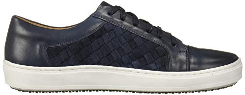 MARC JOSEPH NEW YORK Men's Leather Made in Brazil Luxury Lace-up Detail Fashion Sneaker, Jeans Suede/Weave, 11.5 M US