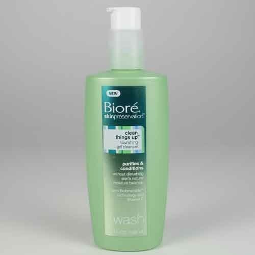 Biore Skin Preservation Clean Things Up Nourishing Gel Cleanser 6.7 Fl Ounces (Pack of 2)