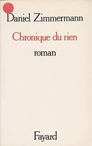"""Afficher """"Chronique du rien"""""""