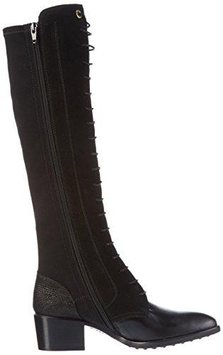 Hispanitas Liverpool - Botas altas para mujer Negro (Soho-I6 Black Crosta-I6 Black LIZARD-I6 Black)