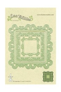 Leane Creatief Lea'Bilities Frame Curved (Scalloped Square) Cutting & Embossing Die