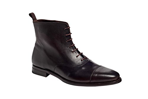 Anthony Veer Heren Texas Cap-toe Oxford Laarzen In Premium Leer Goodyear Welted Constructie Bruin