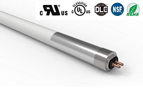 25-Pack T5 4ft Direct Wire Super Light Tube, 25W(54W or Higher Equivalent), 3500lm, 5000K(Daylight) Works Bypass Ballast, Frosted Glass, UL-Listed, DLC Listed(25, 5000K)