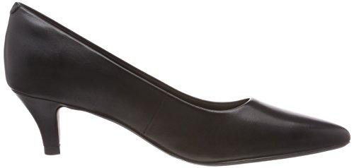 Clarks Leather Jerica Black Linvale Scarpe Tacco con Donna Nero SFZr8xzS