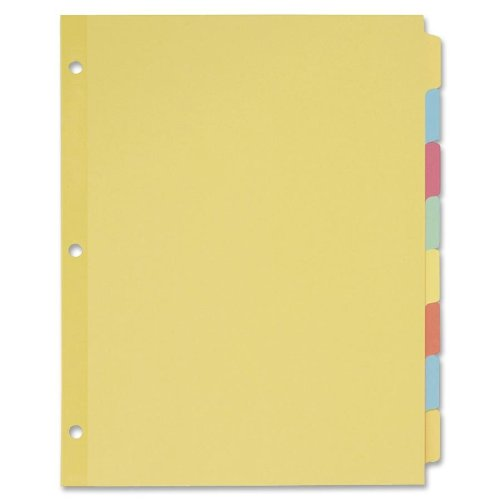 Avery Recycled Plain Dividers with Multicolor Tabs, 8-Tab,  24 Sets (11509)