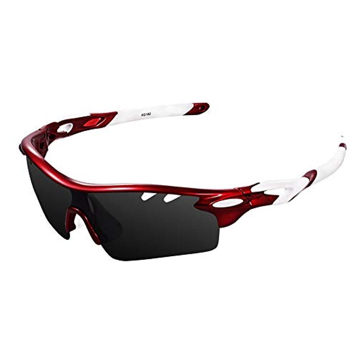 [해외] EWIN 스포츠 썬글라스 편광 렌즈 UV400컷 교환 렌즈3 매경량 유니 자외선 방지 등산 골프 낚시 야구 런닝 렌즈 교환 가능 편광 썬글라스 세트