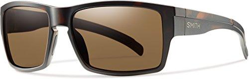Smith Optics Mens Outlier XL Polarized Sunglasses, Matte Tortoise/Brown, - Smith Slider Sunglasses