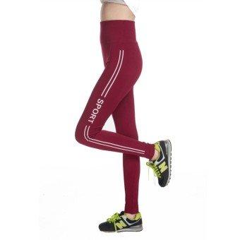 Jubination Girl's Stretchable High Waist Compression Yoga Tummy tuck  Multicolor Sports Legging/ Jegging (Maroon)