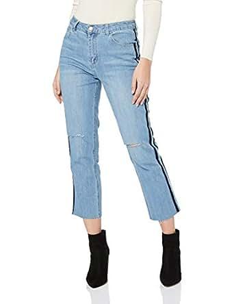 Sass Women's Hunter Velvet Stripe Jeans, Vintage Indigo, 10
