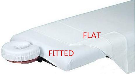 Package choice-White-Spa-Massage-Table-Poly-Cotton-Fitted-Sheets-w-elastic-edge GreenLife