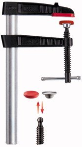 Bessey TG20K Screw Clamp Tg-K 7.87In/3.94In of Cast-IRON, Black/Red/Silver Cast Iron Screw Clamp