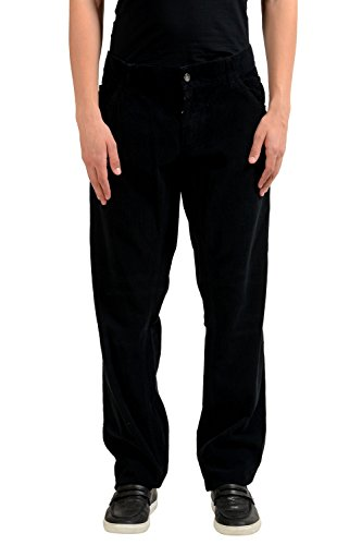 Dolce Gabbana Black Jeans (Dolce & Gabbana Men's Black Corduroy Classic Jeans US 42 IT 58)