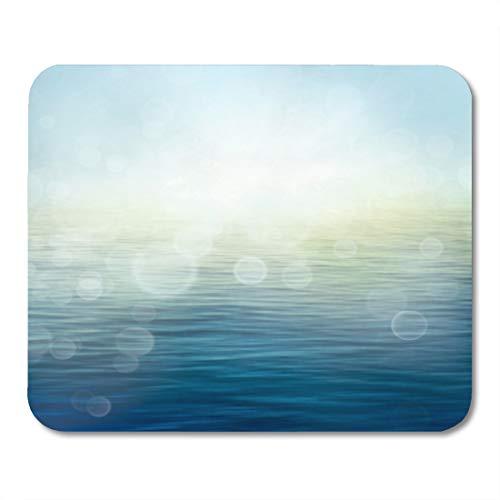 Semtomn Gaming Mouse Pad Abstract Nature Summer Spring Ocean Sea Small Waves 9.5
