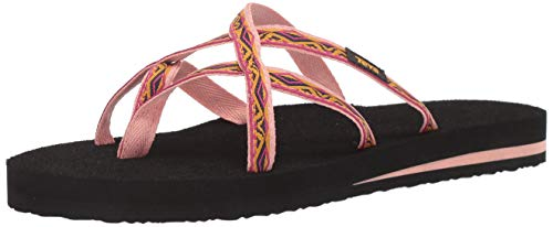 Teva Women's W Olowahu Flip-Flop Safari Ribbon Apricot Blush 8 Medium US