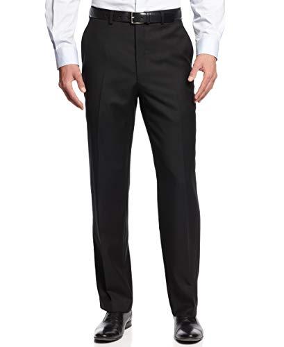 (MICHAEL Michael Kors Mens Wool Partially Lined Dress Pants Black 42/30)