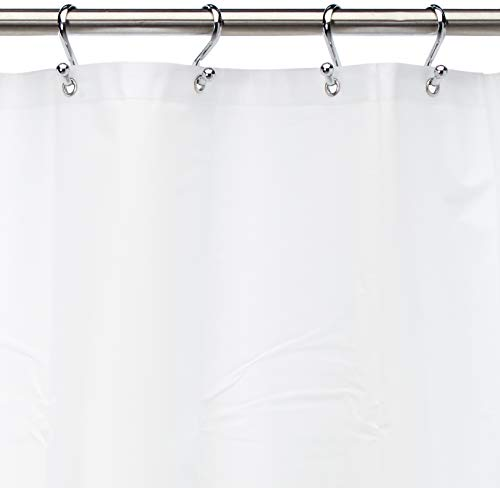 Carnation Home Fashions 10-Gauge PEVA 72 by 84-Inch Shower Curtain Liner, X-Long, White