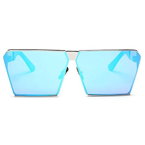 Lentilles Polarisées avec Lunettes VVZiel Cadre Tendance pour de Lunettes Femmes Bleues Carrée de Soleil Soleil Or w6xCtqB