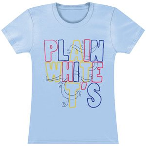 Plain White Ts Multi Color Logo Girls Jr Soft tee Medium Blue