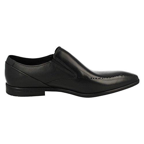 CLARKS Clarks Mens Shoe Bampton Free Black Leather Black Leather