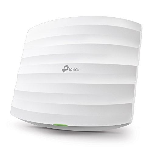 TP-Link EAP225 Point d'Accès Wi-Fi Double Bande AC 1350Mbps PoE Gigabit - Plafonnier (300Mbps en 2.4GHz + 867Mbps en 5GHz, 1 port Gigabit, Support PoE)
